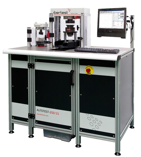 Maquina de ensayo de compresion de cemento AUTOTEST-250/15 (capacidad 250 kN) con zona de flexión para norma EN 196