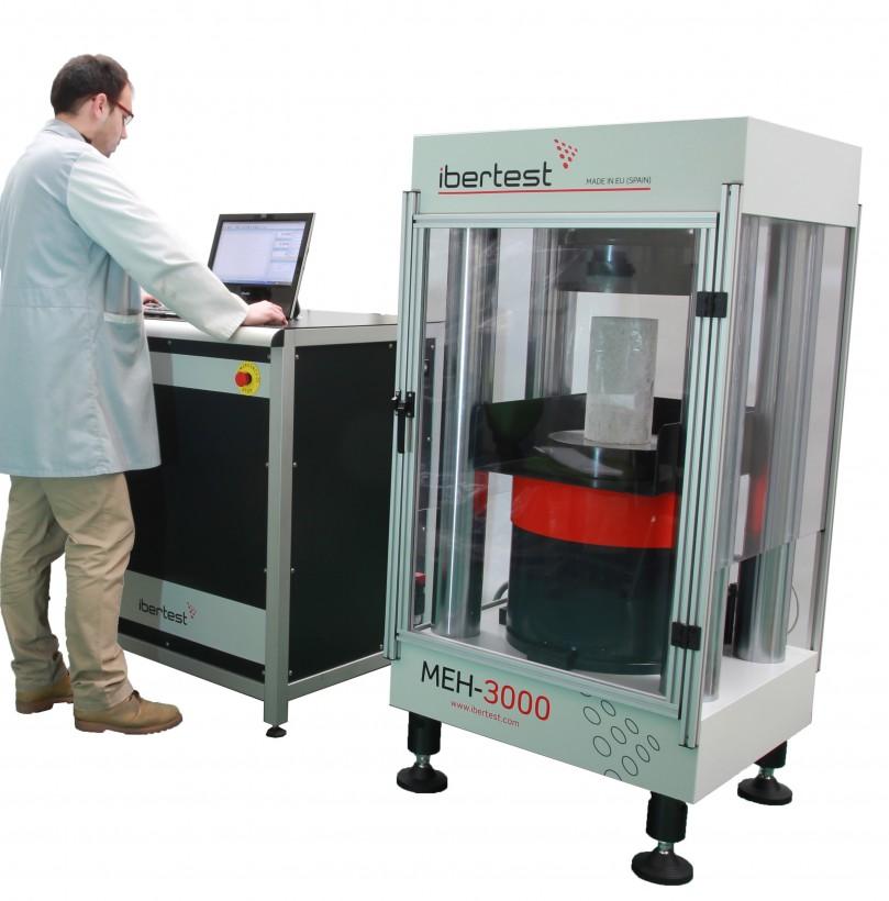 Maquina ensayo de hormigones de altas prestaciones MEH-3000LC (Capacidad 3000 kN)