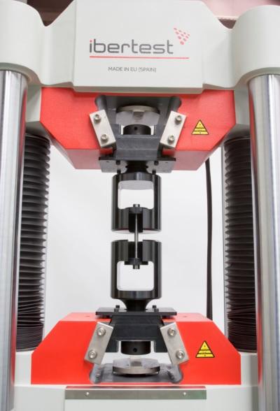Maquina de ensayo IBMU4 con dispositivo para probetas con cabeza mecanizada