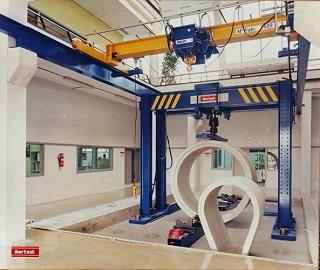 Portico 1000kN compresión prefabricados hormigón