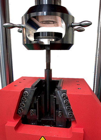 Detail of testing device for screws