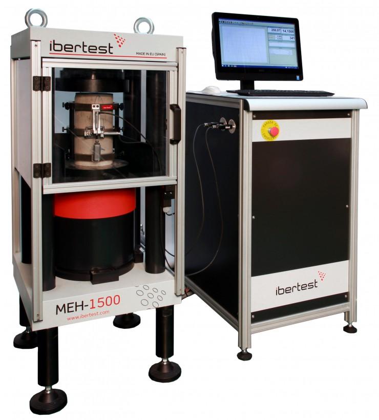 Máquina de ensayo de hormigón MEH-1500AP. Capacidad 150 kN