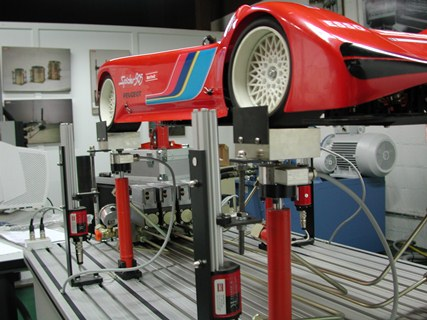 Multiaxial simulator for automotive testing