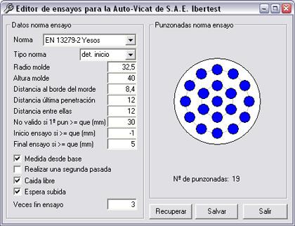 Programación de AUTOTEST para el ensayo de fraguado en yesos EN-13279 mediante software VicaTest