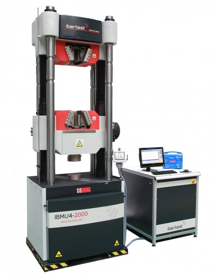 Máquina universal de ensayos IBMU4 2000. Capacidad 2000 kN.